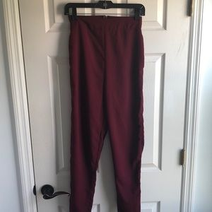 Long red pants